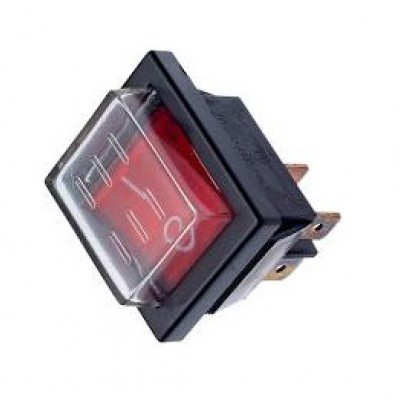 Переключатель RK1-01 16А 250V T85 1 клавиша 4 контакта с защитным кожухом