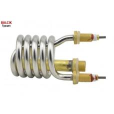 Тэн (нагреватель) нержавейка 3kW/ 220V/ штуцер Ø10мм (спиралевидный) для проточных смесителей-водонагревателей